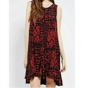 Urban Outfitters Ecote Red Black Aztec Print Dress